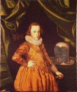 Portret van Prins Frederik III van Denemarken (1609-1670),  zoon van Koning Christiaan IV van Denemarken, als kind