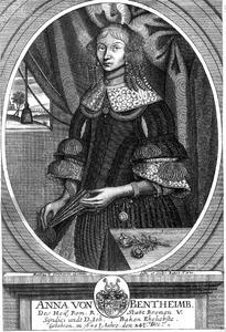 Portret van Anna von Bentheim (1643-....)