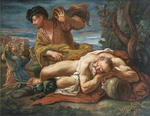 De dronkenschap van Noach (Genesis 9:21-23)