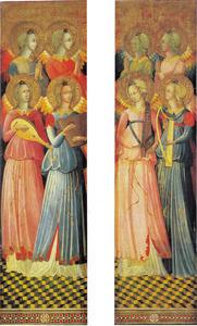 Twee luiken met vier engelen (linkerluik); Vier engelen (rechterluik)