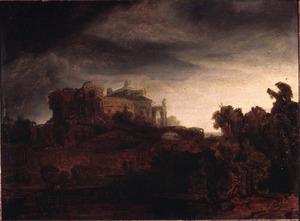 Landschap met een kasteel