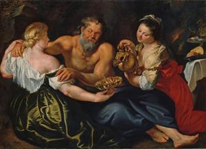 Lots dochters maken hun vader dronken (Genesis 19:33-34)
