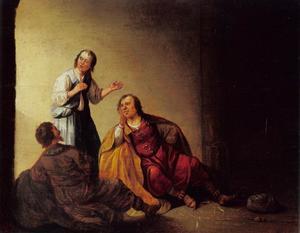 Jozerf verklaart de dromen van de bakker en de schenker in de gevangenis  (Genesis 38)