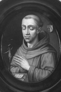 Portret van de franciscaner monnik Adam Sasbout (1516-1553)
