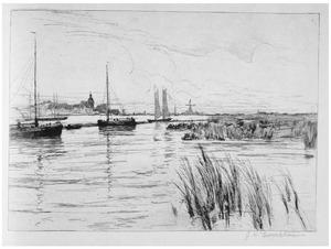 Gezicht op de dijken in Holland