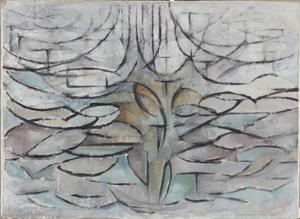 Bloeiende appelboom (authentiek)
