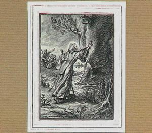 H. Franciscus van Paula houdt een vallend rotsblok tegen