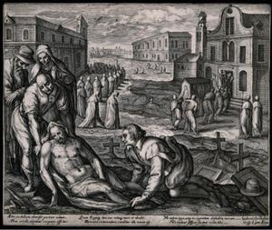 Een van de zeven werken van barmhartigheid: het begraven der doden (Matteus 25:35-36)