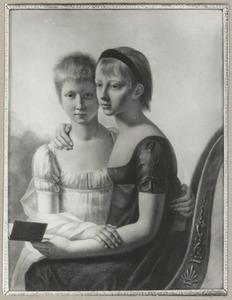 Dubbelportret van Agnes Hodshon (1793-1827) en Cornelia Catharina Hodshon (1794-1871)