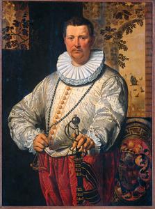 Portret van een Hollandse vlootvoogd