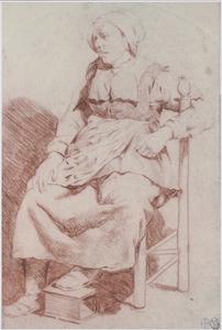 Zittende vrouw, naar links