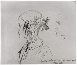 Portret van Agneta Gabrielle Wilkens (1822-1864)