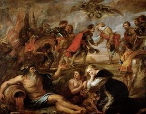 De ontmoeting tussen koning Ferdinand van Hongarije en kardinaal-infant Ferdinand van Spanje te Nördlingen