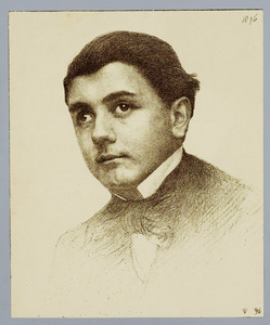 Portret van Allard Pierson op 16-jarige leeftijd