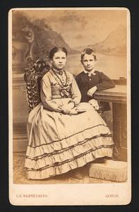 Portrert van Margot v.d. Ham (1857-1935) en Maurits v.d. Ham (1862-1897)