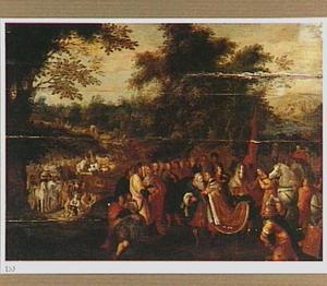 Jozef begroet zijn vader Jacob in Egypte te Gosen (Genesis 46:29-30)