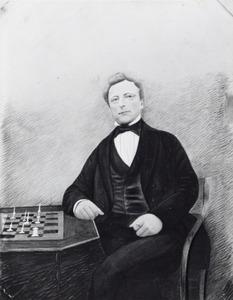 Portret van Jan Haga (1816-1888)