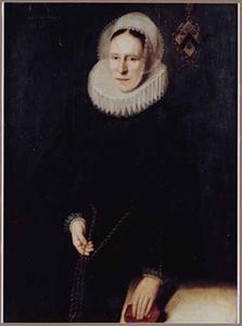 Portret van een onbekende 44-jarige vrouw