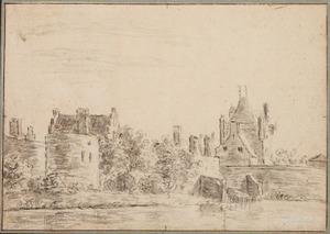 De Zijlpoort in Haarlem vanuit het noorden