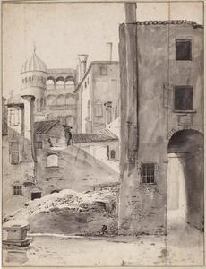 Gezicht op Palazzo Contarini del Bovolo, Venetië