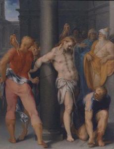 De geseling van Christus (Matteüs 27:26; Marcus 15:15; Johannes 19:1)