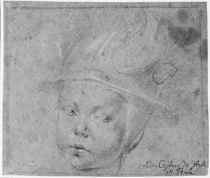 Portret van koning Christiaan V (1646-1699) als een kind