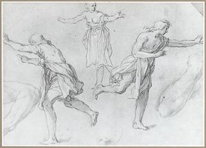 Drie rennende figuuren