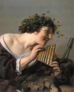 Panfluit spelende herder