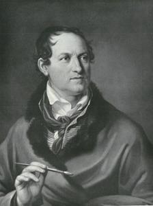 Zelfportret van Friedrich Georg Weitsch (1758-1828)