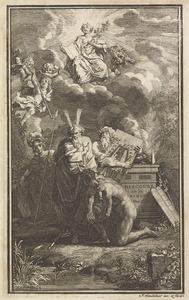 Mozes met het ontwerp voor het tabernakel