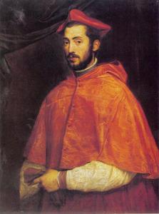 Portret van kardinaal Alessandro (II) Farnese (1520-1589)
