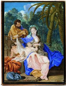 De heilige familie met jonge Johannes
