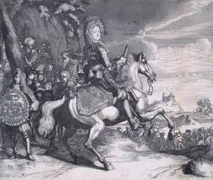 Ruiterportret van A.D. Mensjikov (1673-1729)