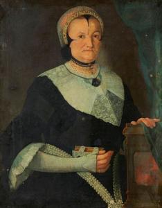 Portret van Veronika Schilderlin in Ulmer streekdracht