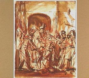 Jozef beschuldigd door de vrouw van Potifar (Genesis 39:17-20)