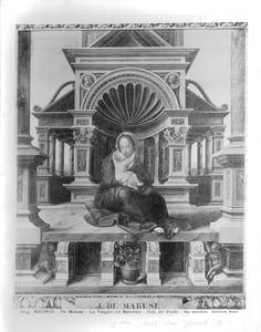 Maria met kind voor een renaissance nis
