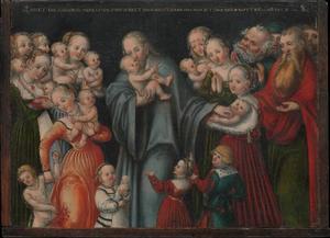 Christus zegent de kinderen ('Laat de kinderen tot mij komen')