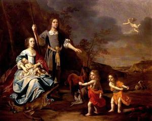 Groepsportret van familie Strick van Linschoten