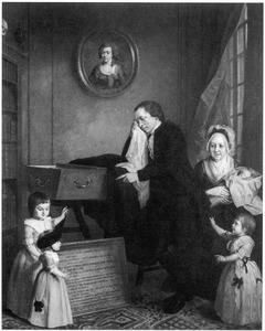 Portret van Bartholomeus Weddik Wendel (1746-1825), zijn schoonmoeder Alida Maria Issendorp (1734-1814)  en zijn kinderen