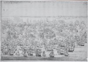 De Slag bij Lowestoft, 1665, 10 uur in de ochtend