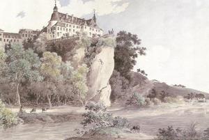 Slot Oranienstein gezien van de Lahn-zijde