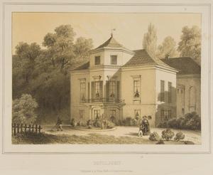 Gezicht op het landhuis Paviljoen te Velp