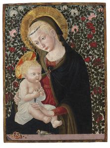 Maria met kind en goudvink