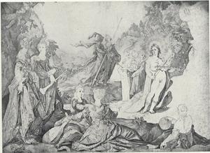 Het oordeel van Midas in de wedstrijd tussen Apollo en Pan