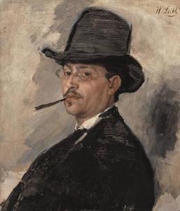 Portret van de schilder Carl Schuch (1846-1903)