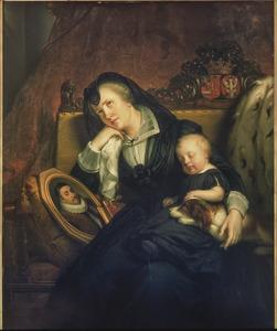Dubbelportret van Louise de Coligny (1555-1620) en Frederik Hendrik van Oranje- Nassau (1584-1647)