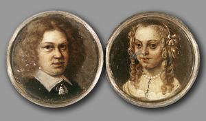 Schroefdaalder met de portretten van Joost Lewe ter Hansouw (1626-1677) en Petronella Coenders (?-1678)