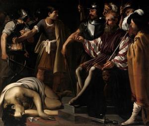Mucius Scaevola voor Porsenna (Livius 2:12-13)