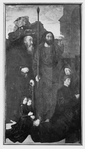De HH. Thomas en Antonius Abt met Tommaso Portinari met zijn zonen Antonio en Pigello