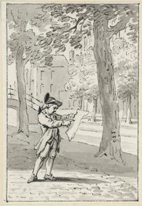 Illustratie voor 'Het gevonden liedjen' in de Kleine gedichten voor kinderen door H. van Alphen